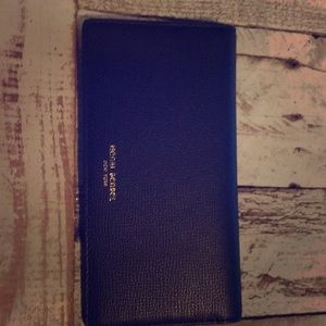 Henri Bendel wallet navy blue w/colbat blue inside